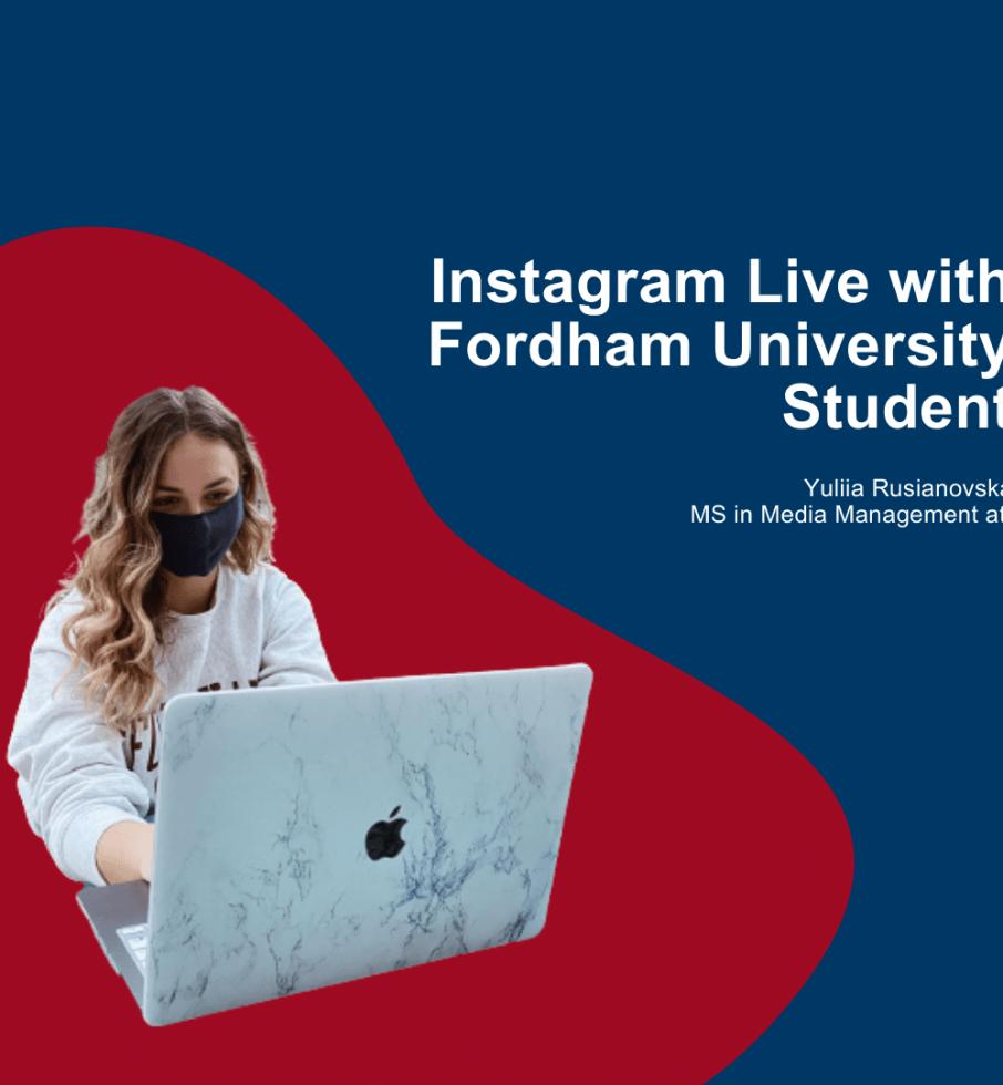 Instagram Live: Що означає бути іноземним студентом під час пандемії?