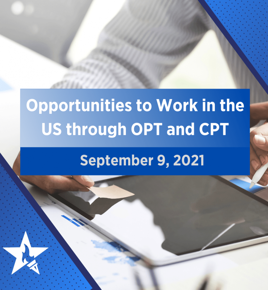 Opportunities to Work in the US through OPT and CPT
