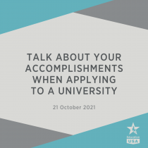 Talk About Your Accomplishments When Applying to a University